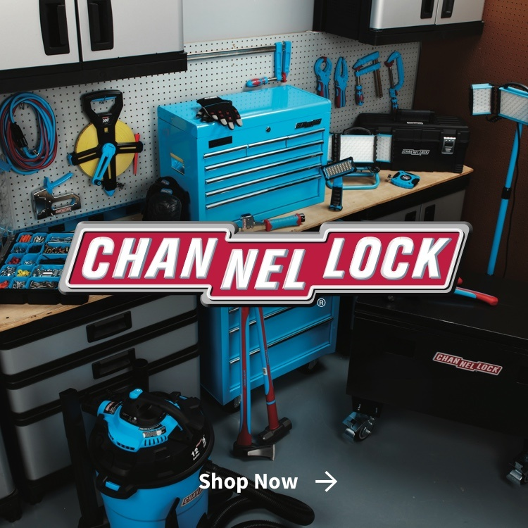 Channellock hand tools and tool set with logo