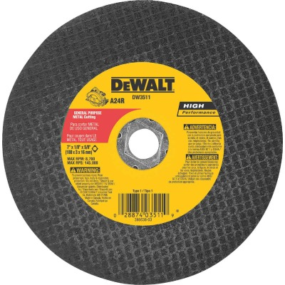 DeWalt HP Type 1 7 In. x 1/8 In. x 5/8 In. Metal Cut-Off Wheel