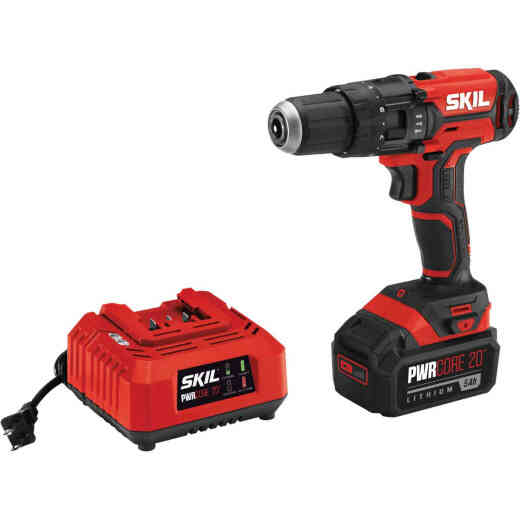 SKIL PWRCore 20 Volt Lithium-Ion 1/2 In. Cordless Hammer Drill Kit