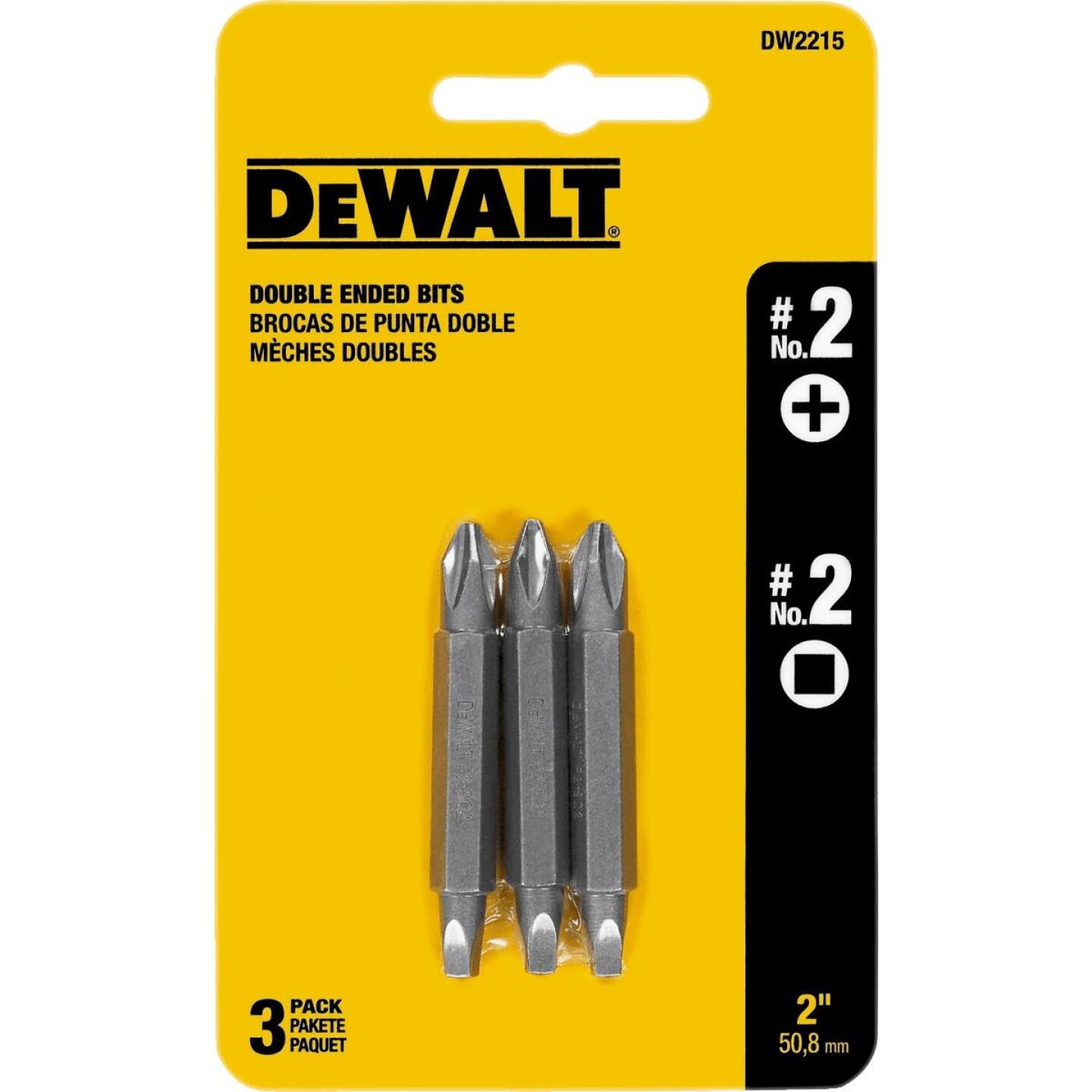 DeWalt Phillips #2 Square Recess Double-End Screwdriver Bit Image 2