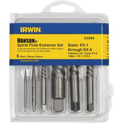 Irwin 6-Piece Spiral Flute Screw Extractor Set