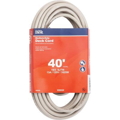 Do it Best 40 Ft. 16/3 Medium-Duty Tan Deck Extension Cord