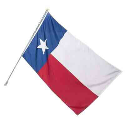 Valley Forge 3 Ft. x 5 Ft. Polyester Texas State Flag & 6 Ft. Pole Kit